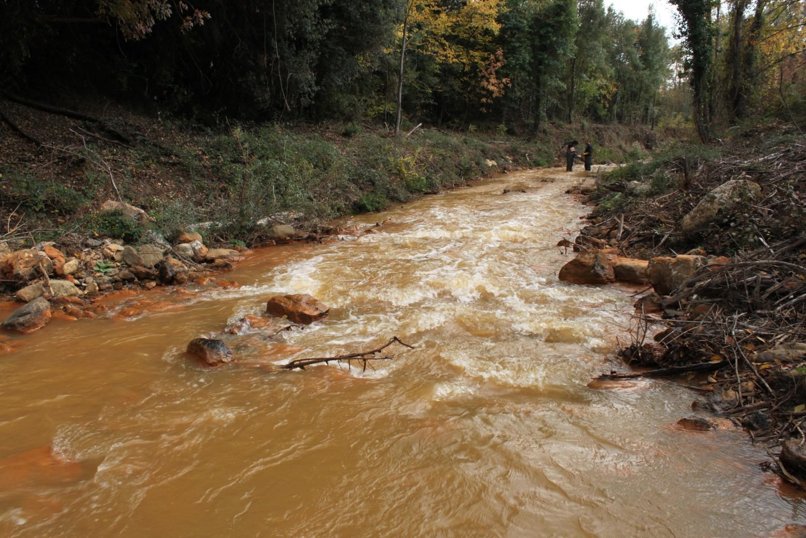 Misure su corso d'acqua inquinato